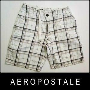 Aeropostale Men Plaid & Check Flat front Short 32